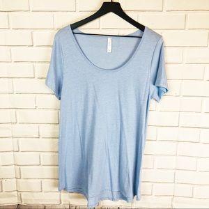 Lularoe | classic tee solid heathered blue